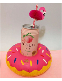 Fashion Donut Cup Holder Pink Pvc Inflatable Hamburger Drink Cup Holder