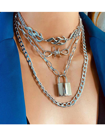 Fashion Silver Silver Lock Necklace