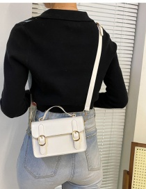 Fashion White Mini Pu One Shoulder Crossbody Bag