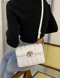 Fashion White Rhombus One-shoulder Messenger Bag