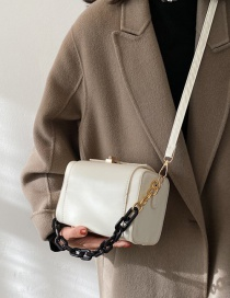 Fashion White Chain One Shoulder Hand Messenger Bag