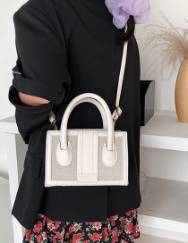 Fashion White Contrasting Single-shoulder Diagonal Bag