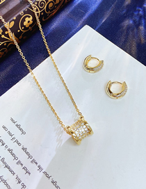 Fashion Golden Xiaoman Waist Earrings And Necklace Set