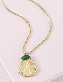 Fashion Golden Colorful Dripping Necklace