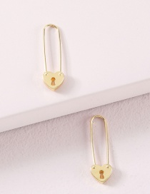 Fashion Golden Alloy Mini Seahorse Earrings