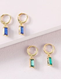 Fashion Green Suit Alloy Crystal Earring Set