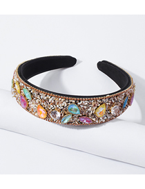 Fashion Color Broken Shell Diamond Broad-brimmed Headband