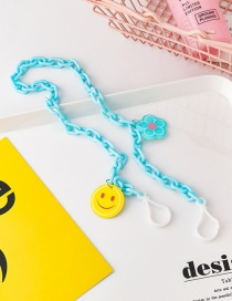 Fashion Blue (thin Chain) Chain Smiley Necklace