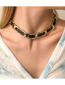 Fashion Necklace Chain Pu Braided Necklace