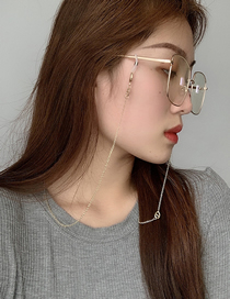 Fashion Silver Color Metal Pig Nose Glasses Chain