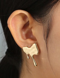 Fashion Gold Color Tears Metal Earrings