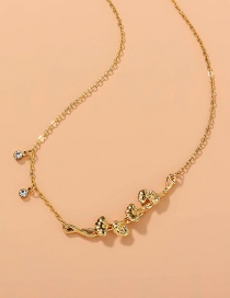 Fashion Gold Color Metal Branch Necklace