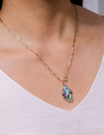 Fashion Color Pearl Irregular Abalone Necklace