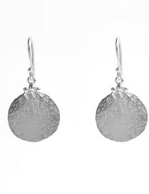 Fashion Silver Color Alloy Round Earrings