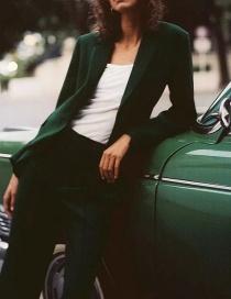 Fashion Dark Green Casual Suit Jacket