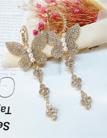 Fashion Gold Color Metal Butterfly Ear Studs
