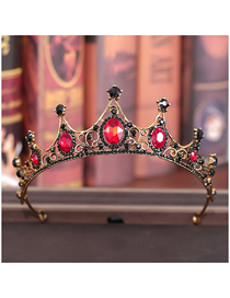 Fashion Red Childrens Rhinestone Crown Headband
