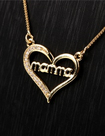 Fashion Gold Color Mama Alphabet Necklace