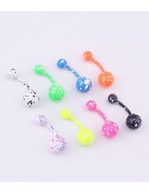 Fashion Round Shape Stainless Steel Heart-shaped Belly Button Nail Set