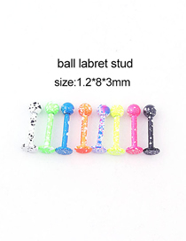 Fashion 8 Mixed Colors/set Snowflake Dot Paint Spherical Stainless Steel Lip Nail
