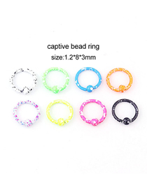 Fashion Universal Ring (8 Colors/set) Lacquered Stainless Steel Pierced Earrings