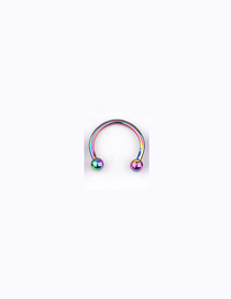 Fashion Colorful Stainless Steel Piercing Ball C-shaped Nose Ring