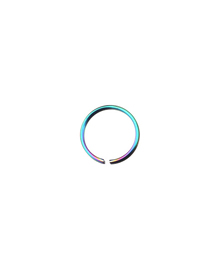 Fashion Colorful Stainless Steel Ring Pierced Earrings
