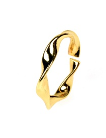 Fashion Gold Color Adjustable Ring With Wavy Curve Opening