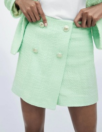 Fashion Green Textured Shorts