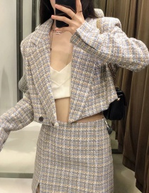 Fashion Color Textured Cropped Blazer