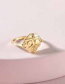 Fashion Gold Color Gold Plated Moon Engraved Ring