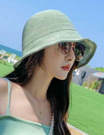 Fashion Green Sun Protection Woolen Knitted Hat