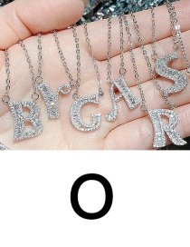 Fashion O English Letter A-z Adjustable Necklace