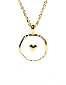 Fashion White Love Copper Plated Real Gold Oil Dropping Star And Moon Love Necklace