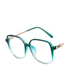 Fashion Asymptotically Green Anti-blue Light Irregular Ultra-light Tr Flat Lens