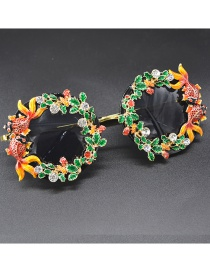 Fashion Black Eyes Hollow Carved Fish Flower Butterfly Sunglasses