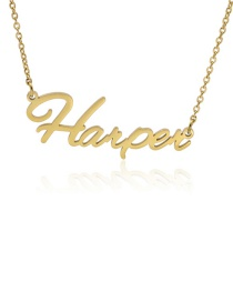 Fashion Harper-gold Stainless Steel English Letter Necklace