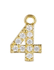 Fashion 4 (golden) Gold-plated Copper Digital Jewelry Accessories