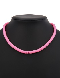 Fashion Pink Suede Necklace