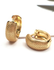 Fashion Gold Color Gold-plated C-shaped Earrings