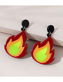 Fashion Flame Flame Contrast Resin Earrings