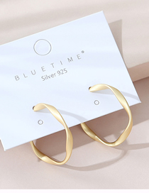 Fashion Golden Real Gold Plated Frosted Earrings