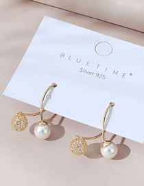 Fashion 14k Gold Real Gold Plated Pearl Earrings