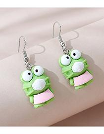 Fashion Green Mask Frog Earrings