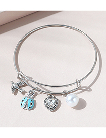 Fashion Blue Beetle Pearl Bracelet