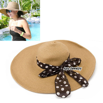 Used Brown Roll Up Beach Hat