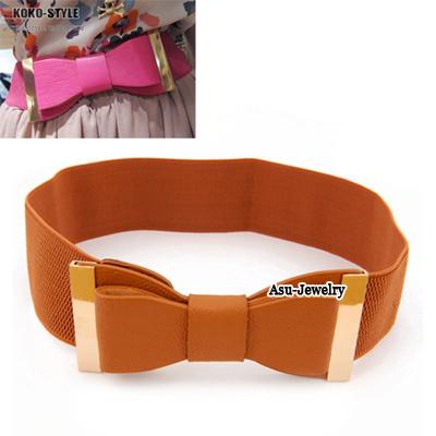 Indian Orange Bow Alloy Wide belts