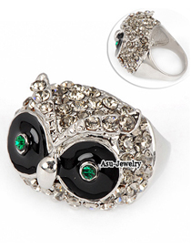 Local Silver Color Owl Alloy Fashion Rings
