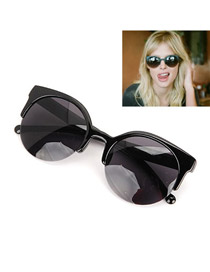 Screw With Black Frame Fashion Half Frame Design