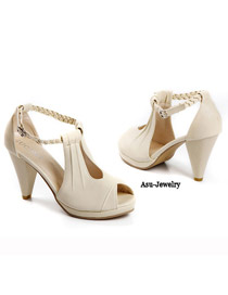 Hardy Beige Simple Design PU Sandals